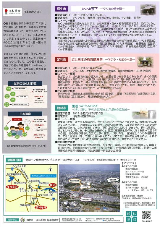 日本遺産シンポジウムチラシ裏